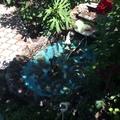 Маленький фонтанчик во дворе- вечером отдыхать возле него на качеле одно удовольствие